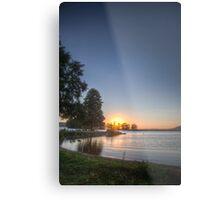 Sundown over an lake Metal Print
