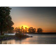 Sundown over an lake Photographic Print