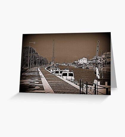 The port on the Tiber River Greeting Card