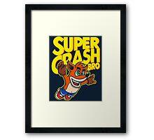 Super Crash Bro Framed Print