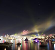 Sydney Navy Fleet Fireworks by miroslava