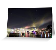 Sydney Navy Fleet Fireworks Greeting Card
