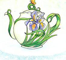 Iris Teapot by AimeeSmith