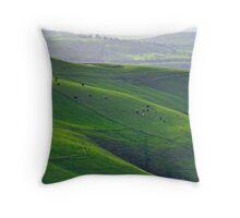 Emerald Hills in Gippsland Throw Pillow