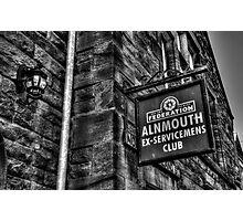 Alnmouth Ex-Servicemen's Club Photographic Print
