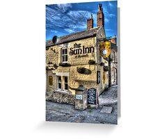 Sun Inn At Alnmouth Greeting Card