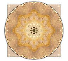 Garden Stone Mandala 2 Photographic Print