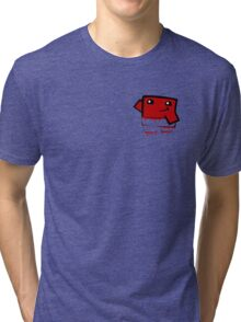 Super meat boy (in your pocket) Tri-blend T-Shirt