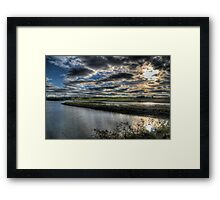 Alnmouth Estuary & Fields Framed Print
