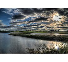 Alnmouth Estuary & Fields Photographic Print