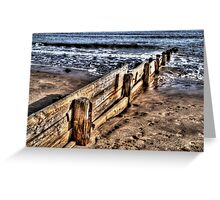 Beach Defence #1 Greeting Card