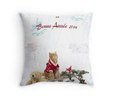 Joyeux Noël et Bonne Année Throw Pillow