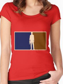 Han solo outline Women's Fitted Scoop T-Shirt