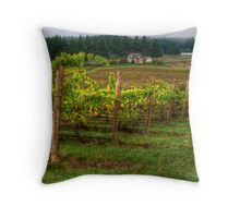 House On The Hill ~ Grape Vineyard ~ Throw Pillow
