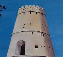 Nizwa Fort Tower by Carrie Brummer