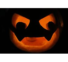 Scary Jack O Lantern Photographic Print