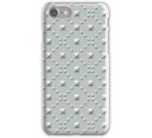 Studded Checkerboard Light on Slate Green Mist 2 iPhone Case/Skin