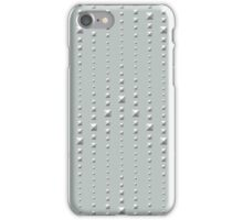 Studded Chevron Stripe on Slate Green Mist 2 iPhone Case/Skin