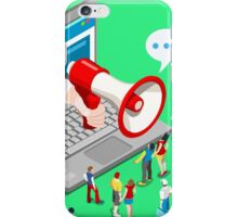 Marketing Concept Isometric iPhone Case/Skin