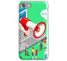 Marketing Concept Isometric iPhone Case/Skin