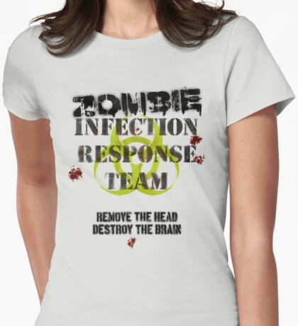 Zombie Infection Response Womens Fitted T-Shirt