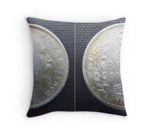 One Rupee 1908 Throw Pillow