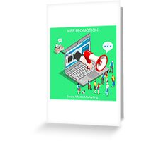 Marketing Concept Isometric Greeting Card