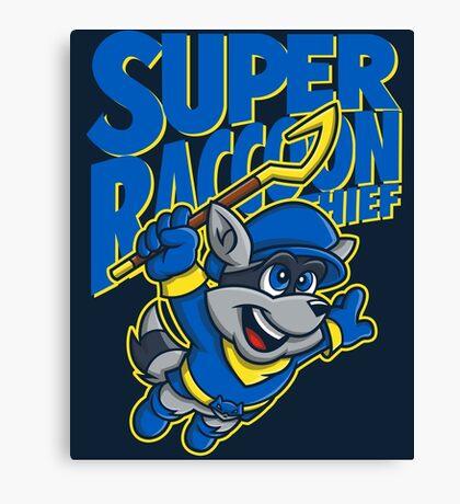 Super Raccoon Thief Canvas Print
