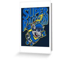 Super Raccoon Thief Greeting Card