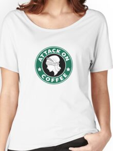 Attack on Coffee Women's Relaxed Fit T-Shirt