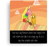 Adventure Time Poster Canvas Print