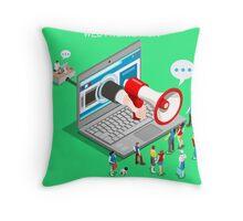 Marketing Concept Isometric Throw Pillow