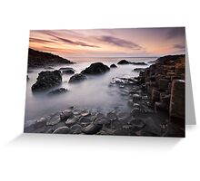 Giants Causeway at Twilight Greeting Card