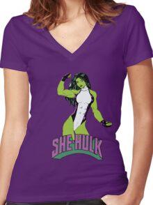 She Hulk Women's Fitted V-Neck T-Shirt