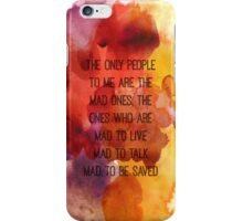 Kerouac Watercolour II iPhone Case/Skin
