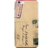 Postcard iPhone Case/Skin