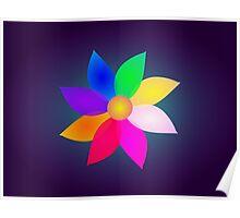 Simple Flower Art Dark Poster