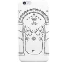 The door of Durin iPhone Case/Skin