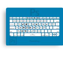Photoshop Keyboard Shortcuts Blue Canvas Print
