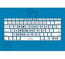 Photoshop Keyboard Shortcuts Blue Photographic Print