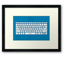Photoshop Keyboard Shortcuts Blue Tool Names Framed Print