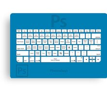 Photoshop Keyboard Shortcuts Blue Tool Names Canvas Print