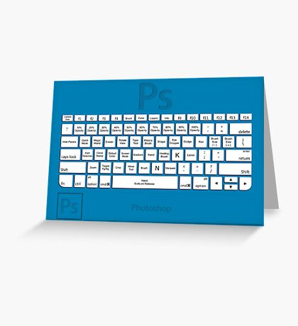 Photoshop Keyboard Shortcuts Blue Tool Names Greeting Card