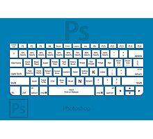 Photoshop Keyboard Shortcuts Blue Tool Names Photographic Print