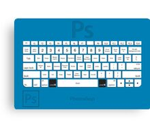 Photoshop Keyboard Shortcuts Blue Cmd Canvas Print
