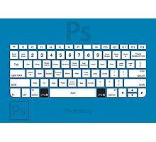 Photoshop Keyboard Shortcuts Blue Cmd Photographic Print