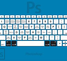 Photoshop Keyboard Shortcuts Blue Opt+Cmd by Skwisgaar