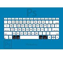 Photoshop Keyboard Shortcuts Blue Opt+Cmd Photographic Print