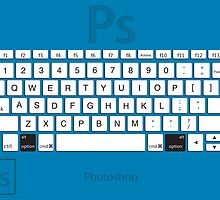 Photoshop Keyboard Shortcuts Blue Opt by Skwisgaar