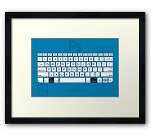 Photoshop Keyboard Shortcuts Blue Opt Framed Print